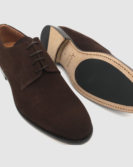 Boston - Derby Suede Shoes - Moka from Alohas