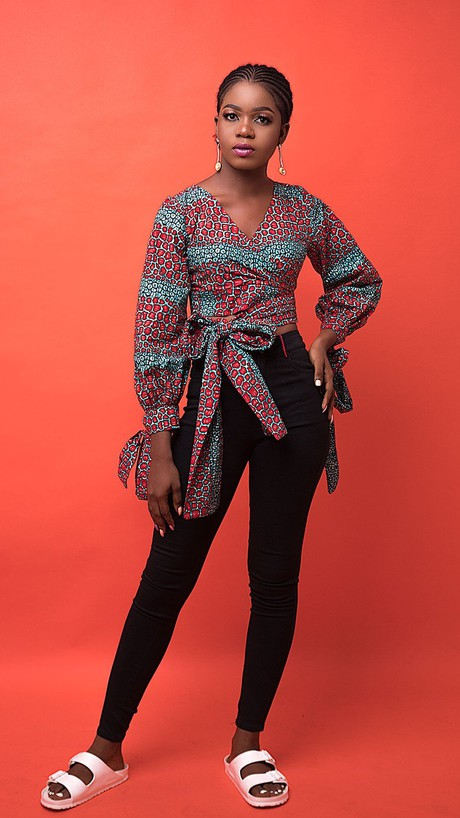 Binta African Print top from Atelier D'Afrique