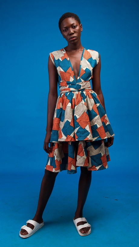 Kaleela African Print Dress from Atelier D'Afrique