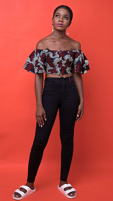 Wafa African Print Top from Atelier D'Afrique
