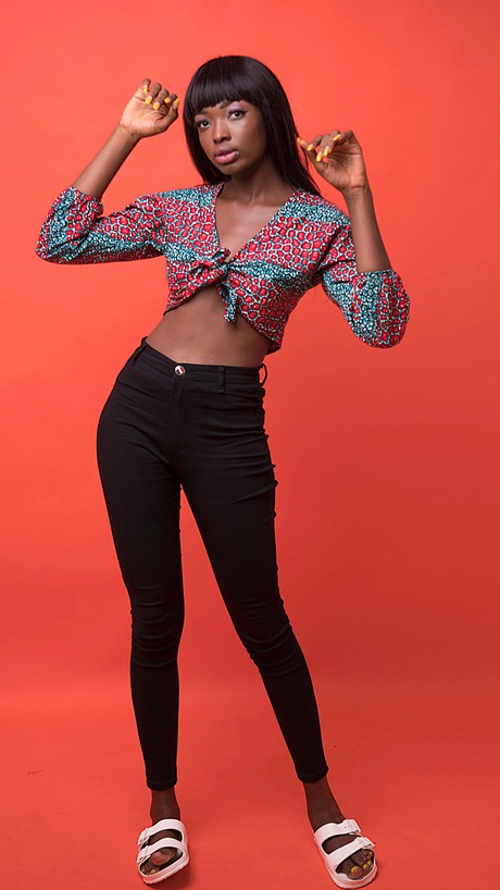 Esi African Print Wrap Top from Atelier D'Afrique