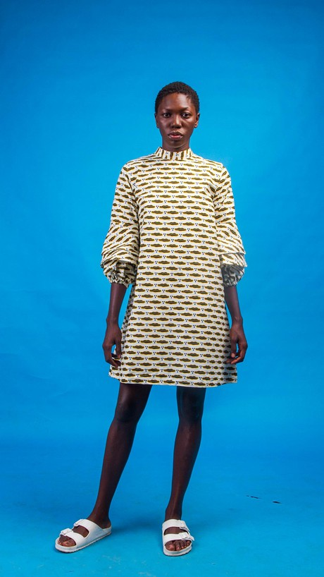 Chinue African Print Shirt Dress from Atelier D'Afrique