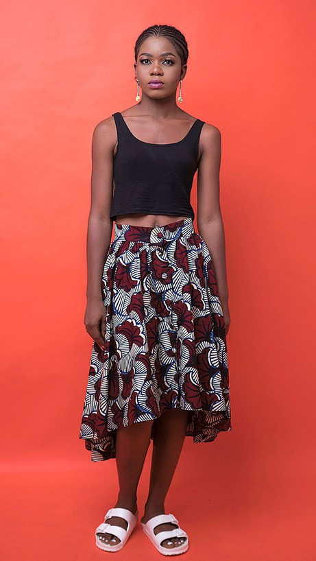 Cyrah African Print Skirt from Atelier D'Afrique