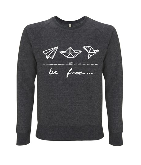 "be free – Unisex Sweatshirt ""melange black"" from be free"