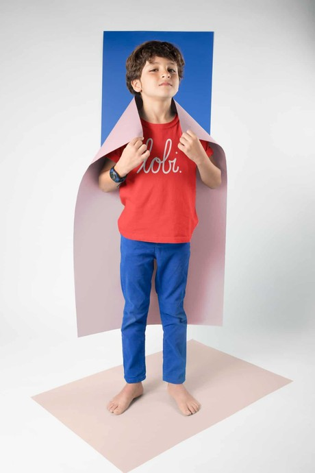 LOBI KIDS T-SHIRT AARDBEIENROOD from BLL THE LABEL