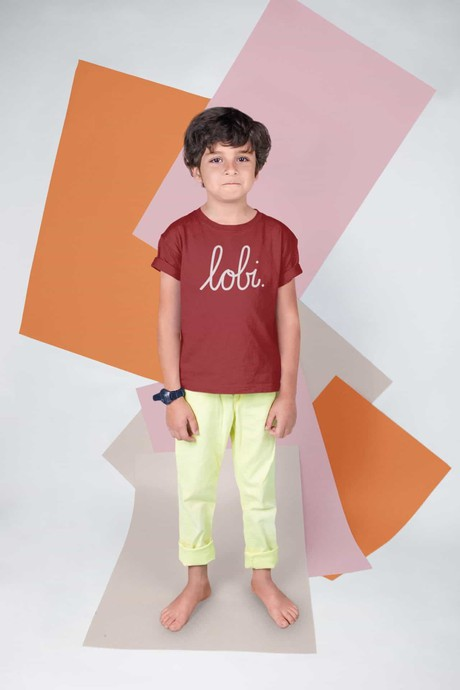 LOBI KIDS T-SHIRT BIETJESROOD from BLL THE LABEL