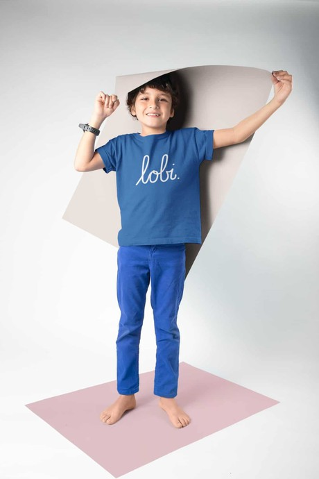 LOBI KIDS T-SHIRT SMURFENBLAUW from BLL THE LABEL