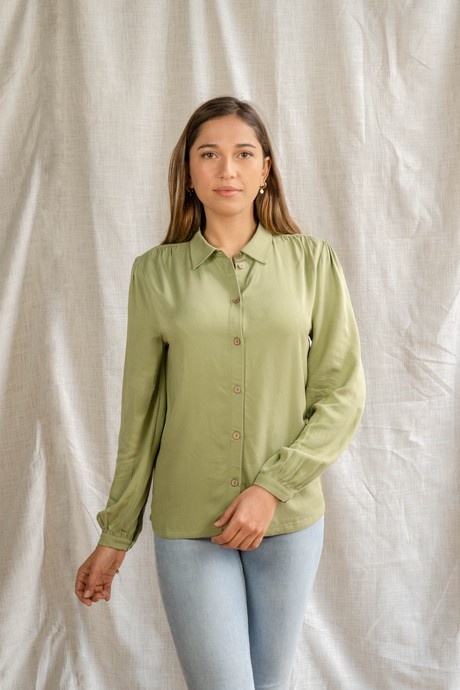 Chloe's Blouse – groen from Common & Sense