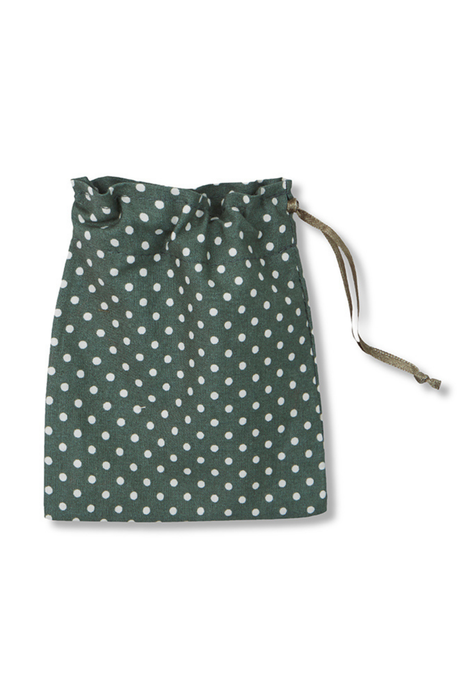 Mask Bag in Green Dots from Cucumber Clothing