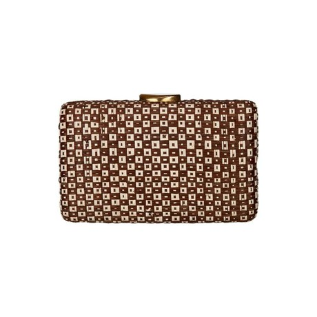 Padayo Clutch Brown Cream M from Disenyo