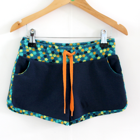 Hotpants bloemetjesblauw from Dress en Les