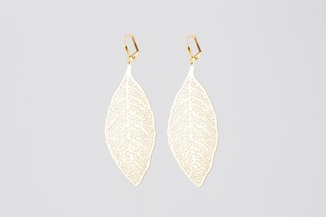 Royal leaf earrings gold SALE from Julia Otilia