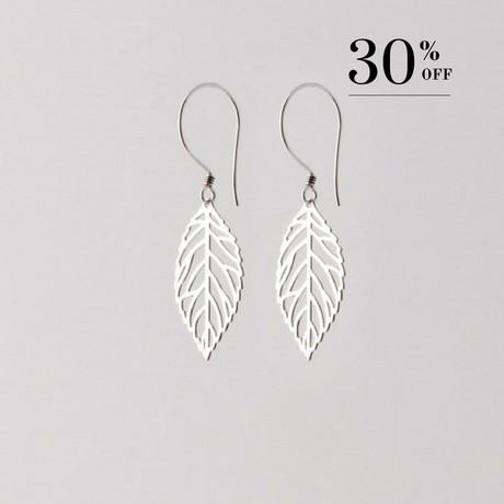 Delicate leaf earrings silver 30% SALE from Julia Otilia