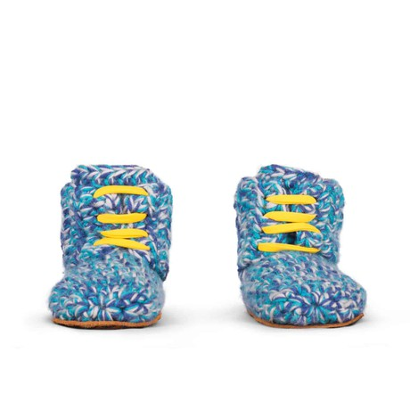 Blues Sports Wool Slippers for Kids 1 - 3 yrs old from Kingdom of Wow!