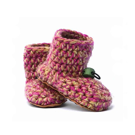 Camo Girl Wool Baby Booties 0 - 12 mths from Kingdom of Wow!