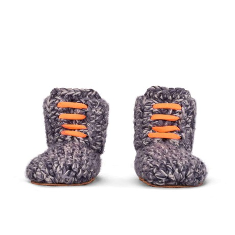Storm Orange Wool Slippers for Kids 1 - 3 yrs old from Kingdom of Wow!
