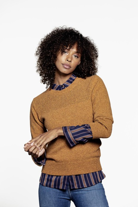 Weekend Sweater 3/4 SLV – Honey from Loop.a life