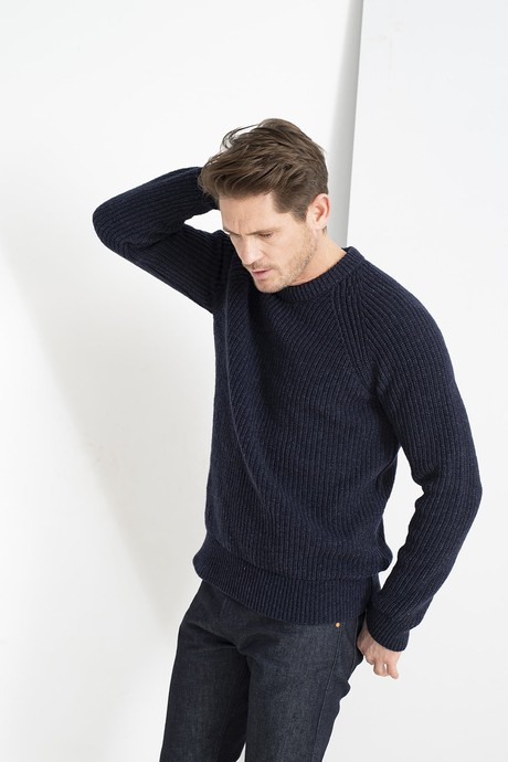 Easy Going Men Sweater – Safir from Loop.a life
