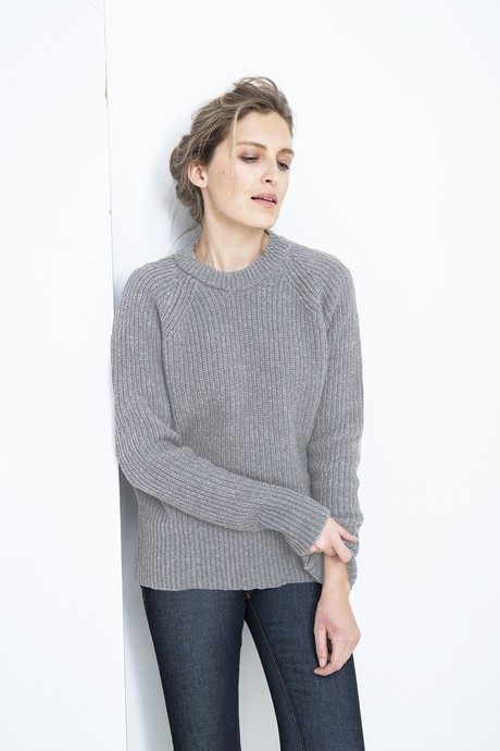 Easy Going Woman Sweater – Light Grey from Loop.a life