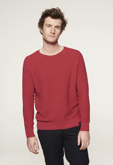 Goodmorning Cotton Sweater – Tomato from Loop.a life