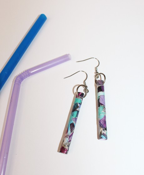Tranquille Plastic Straw Earring 5 from Mancika Designs