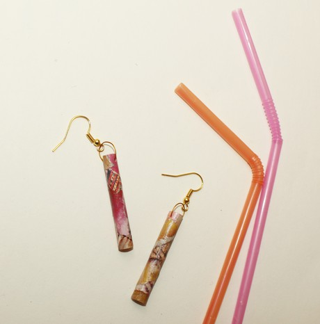 Grotto Plastic Straw Earring 4 from Mancika Designs