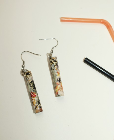 Brescia Plastic Straw Earring 4 from Mancika Designs
