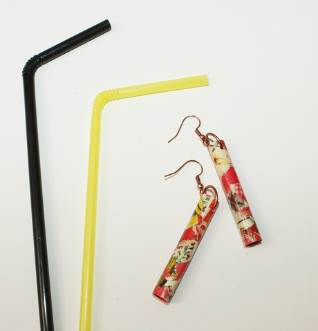 Adorn Plastic Straw Earring 5 from Mancika Designs