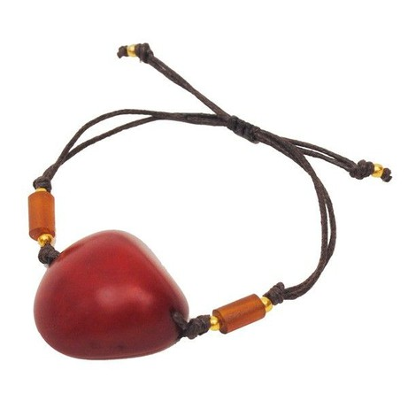 Ovalo - armband van tagua - rood from MoreThanHip