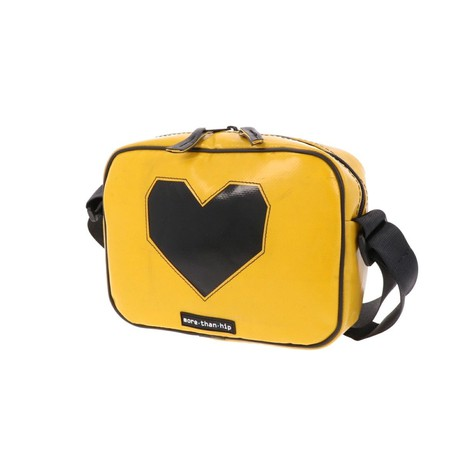Crossbody tas voor dames of heren van vrachtwagenzeil - Brussels from MoreThanHip
