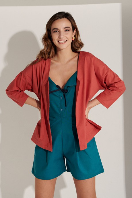 Delphine Jacket Rayon - Red from M.R BRAVO