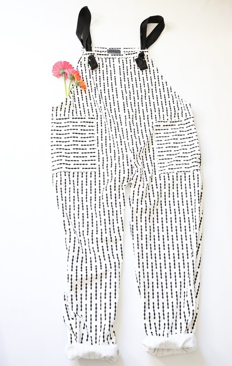 White print dungarees from RACHEL MCMILLAN