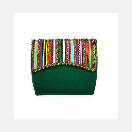 Emerald Green  Vegan Clutch Bag from Siyana London