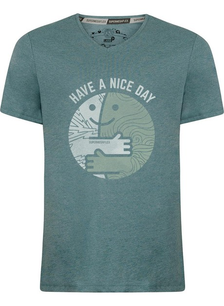 Organic tshirt - Have a nice day - green from Supermegaflex