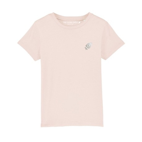 Pre-order Ernest's light pink T-shirt from The Extra Smile