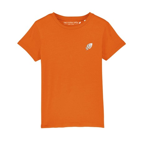 Pre-order Ernest's orange T-shirt from The Extra Smile