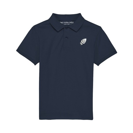 Pre-order Oscar's navy blue polo shirt from The Extra Smile