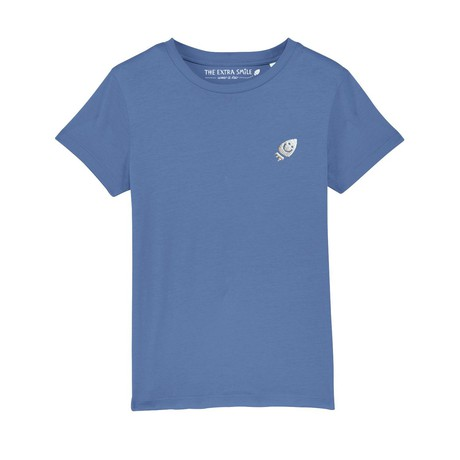 Pre-order Ernest's bright blue T-shirt from The Extra Smile