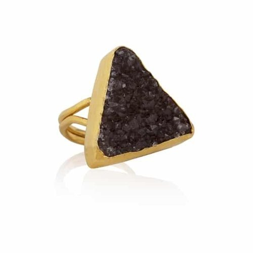 Elpis   Triangle amethist ring   SAMPLE SALE from Ana Dyla