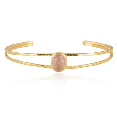 Bangle roze chalcedoon from Ana Dyla