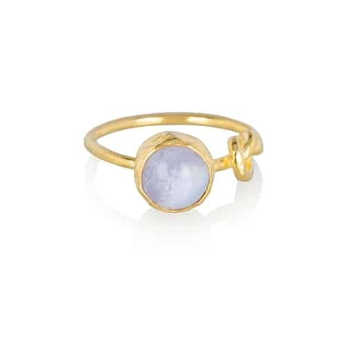 Infinity blauwe chalcedoon ring from Ana Dyla