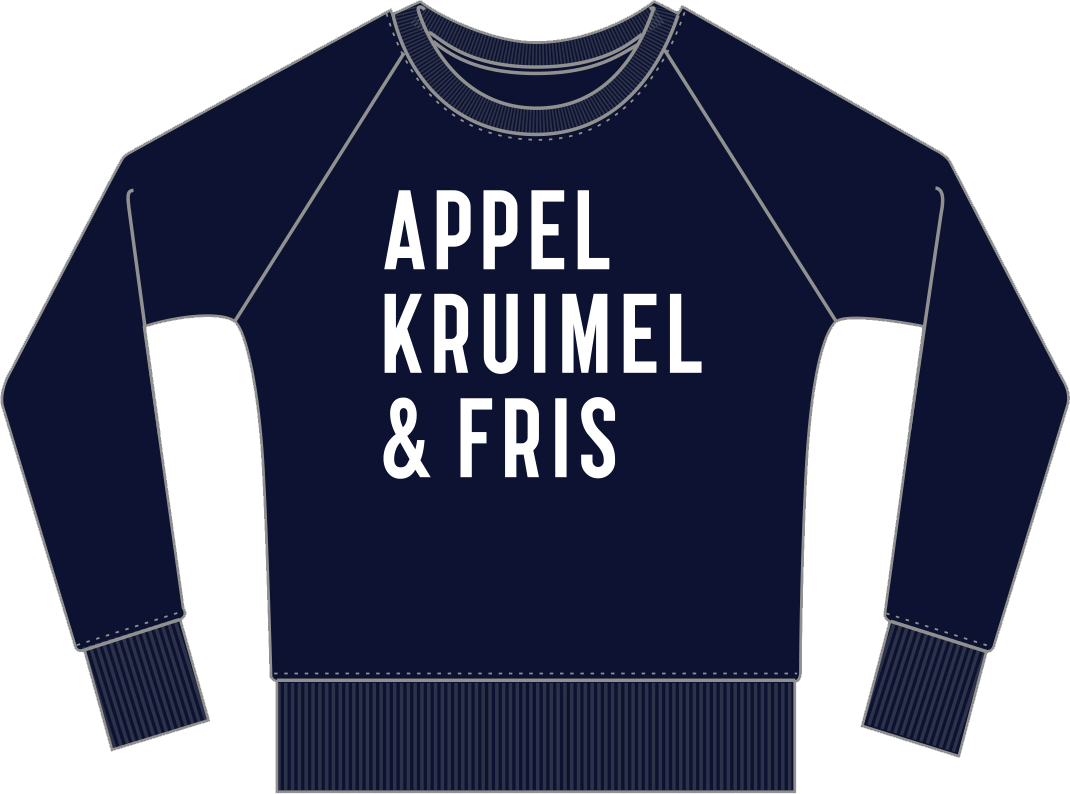 Sweater Navy Unisex from AppelKruimel&Fris