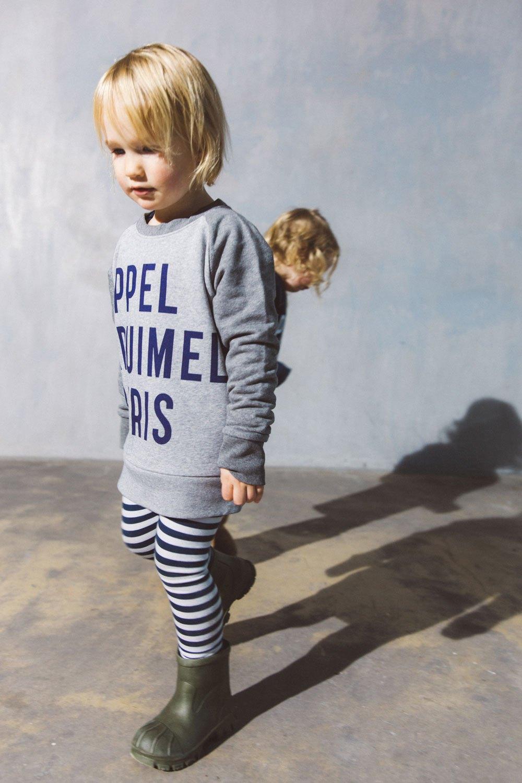 Kids sweater grey from AppelKruimel&Fris