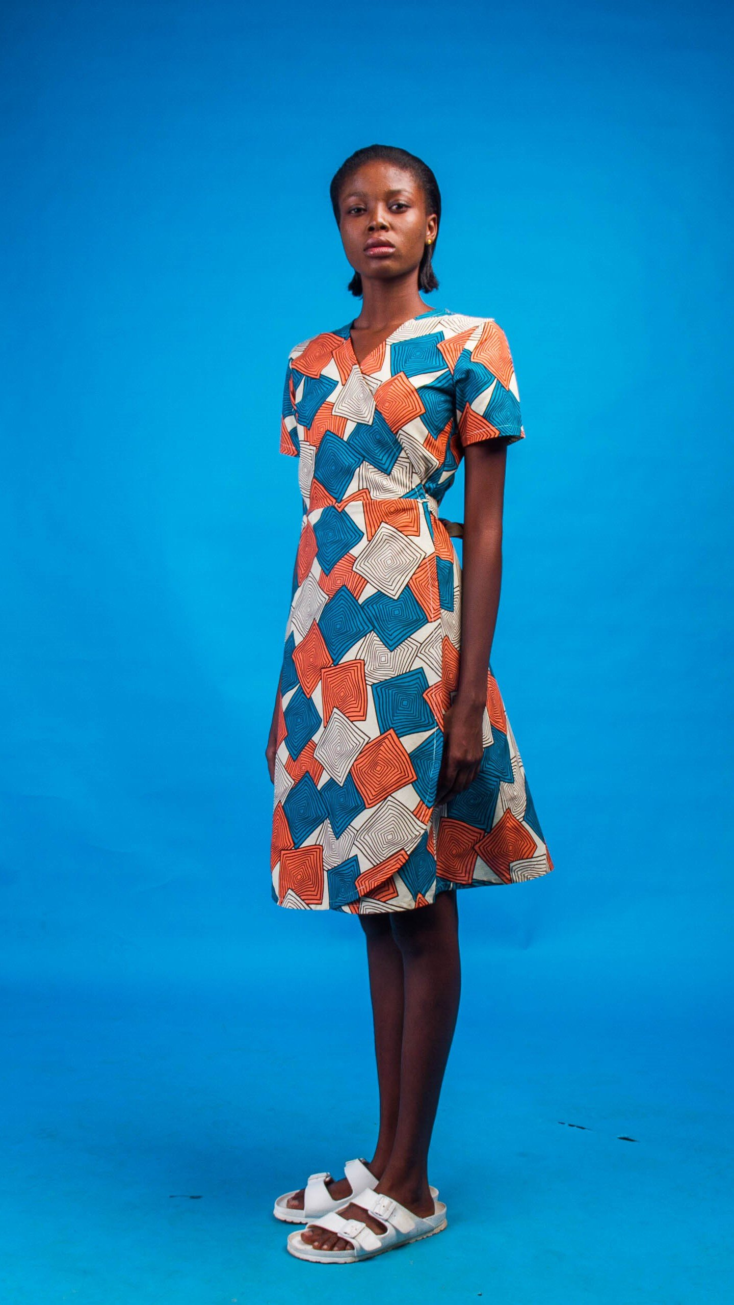 Bushra African Print Wrap Dress from Atelier D'Afrique