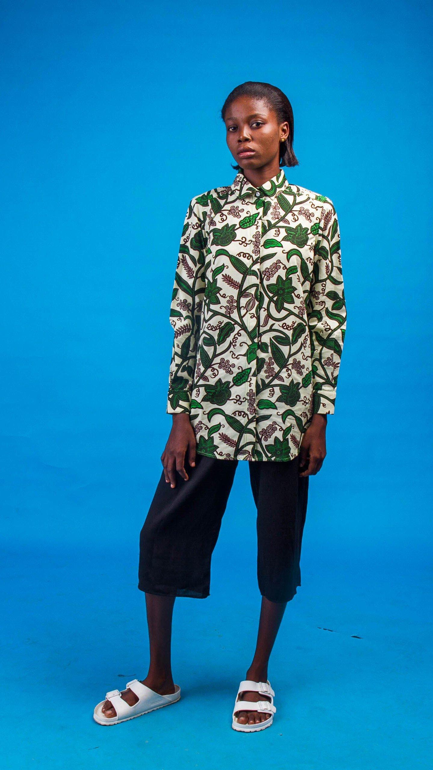 Abena African Print Shirt from Atelier D'Afrique