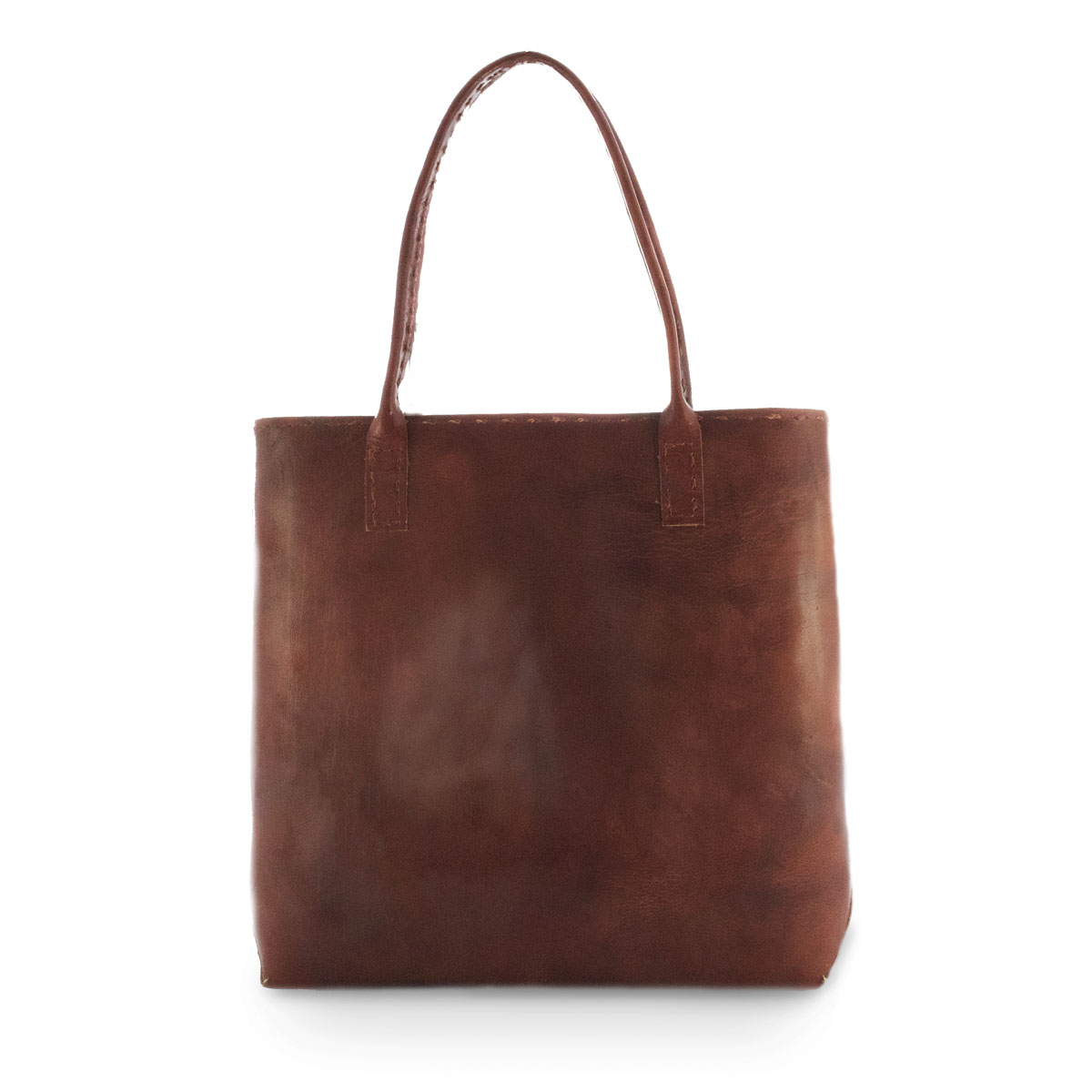 Surya Leren Shopper Rood from Bagoa