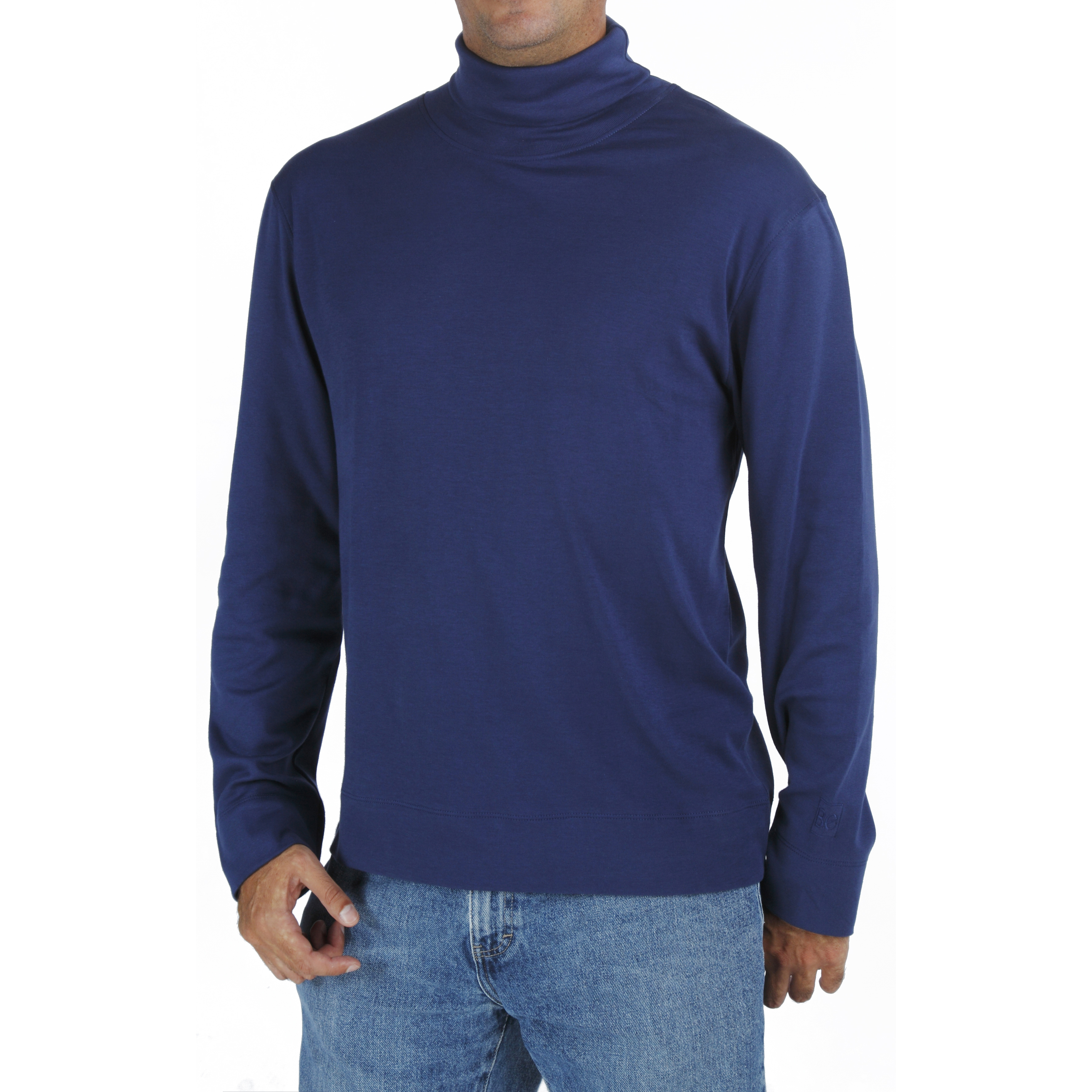 Men's Turtleneck TShirt in Organic Pima from B.e Quality