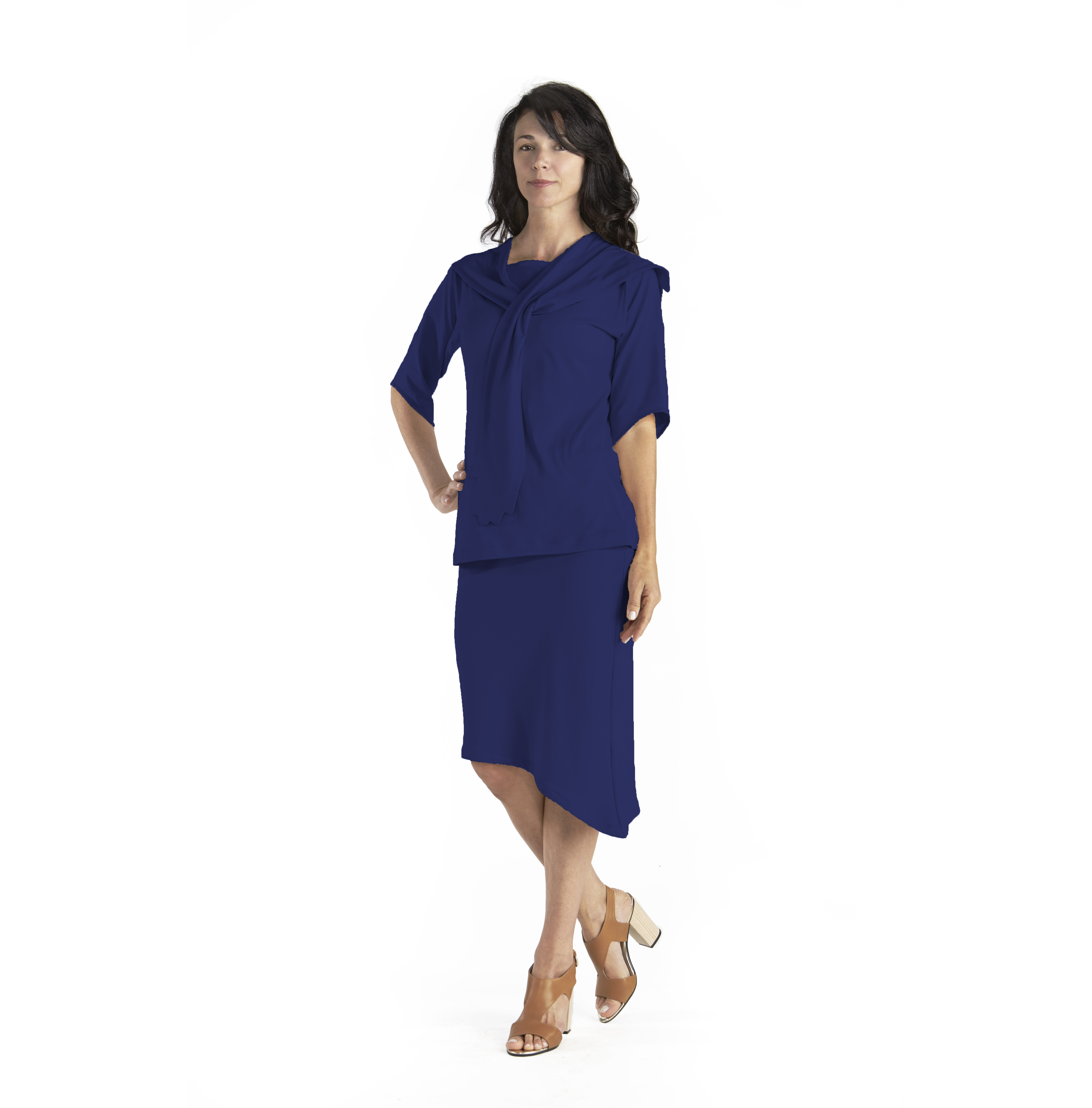 Hug Boat Neck Top in Pima Cotton from B.e Quality