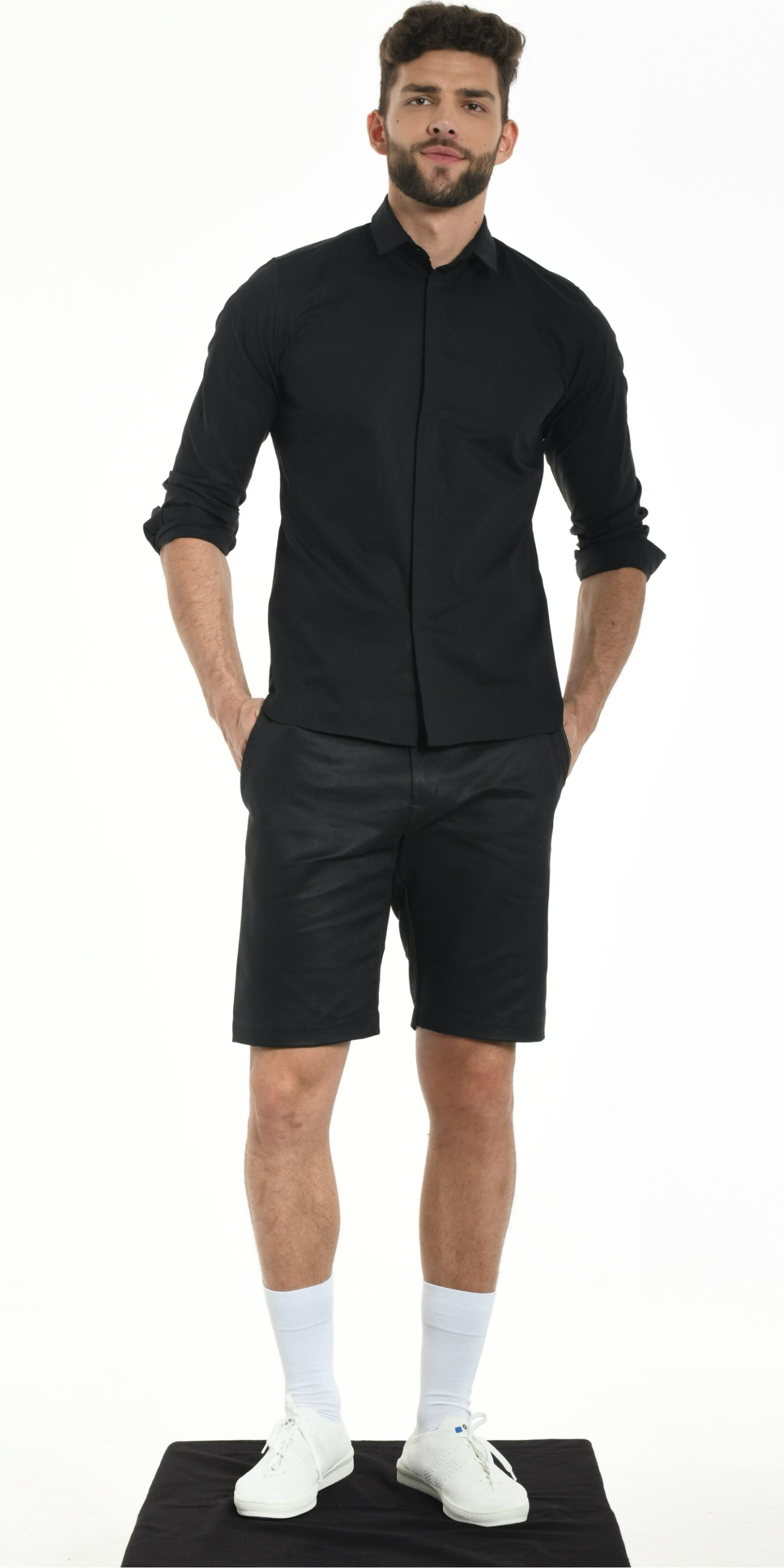 SHORT BLACK  WITH YELLOW SEWING from BEARD & FRINGE