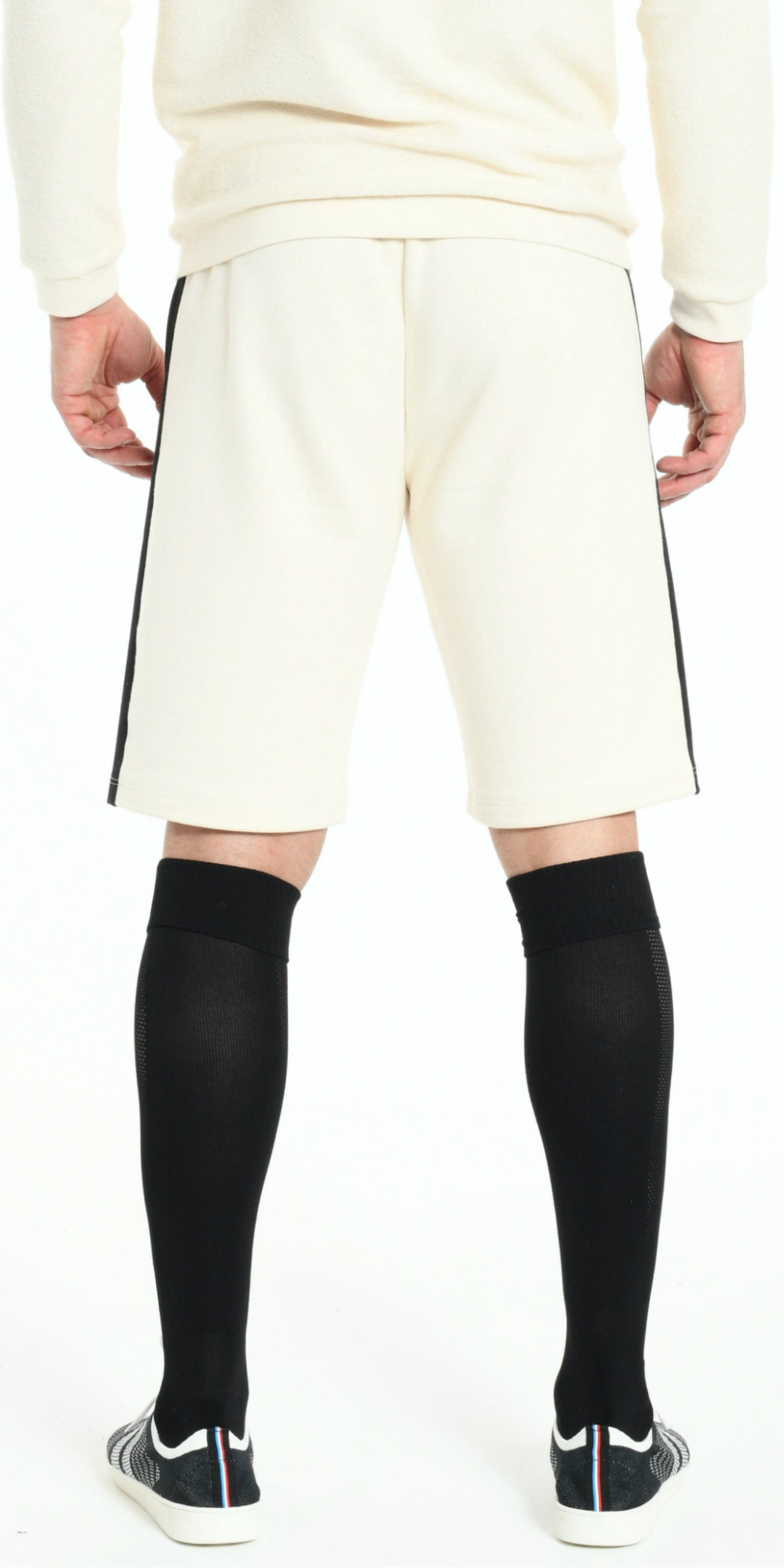 SHORT OFFWHITE WITH BLACK STRIP from BEARD & FRINGE